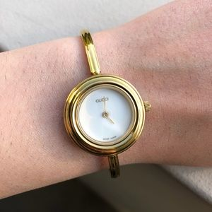 Vintage gold Gucci watch